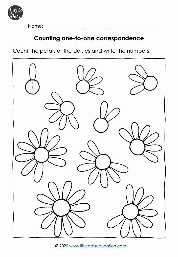 Flowers Worksheets for Preschoolers Kids Free Flower theme Preschool Math Counting to 10 Worksheets