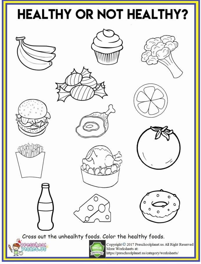 Food Worksheets for Preschoolers Best Of Healthy Food Worksheet Out Th Flickr Worksheets Cool Fun