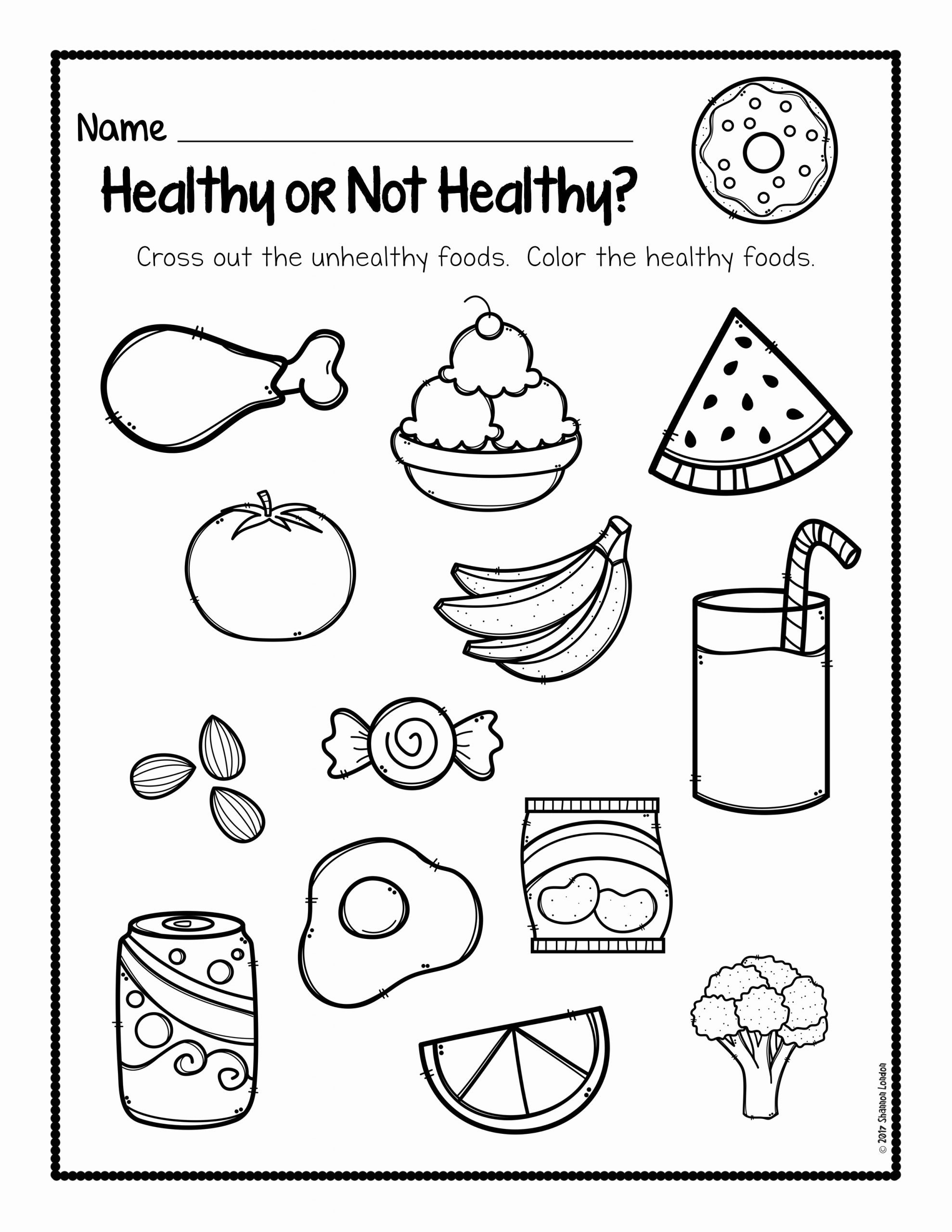 Food Worksheets for Preschoolers top Healthy Foods Posters Worksheets and Activities the