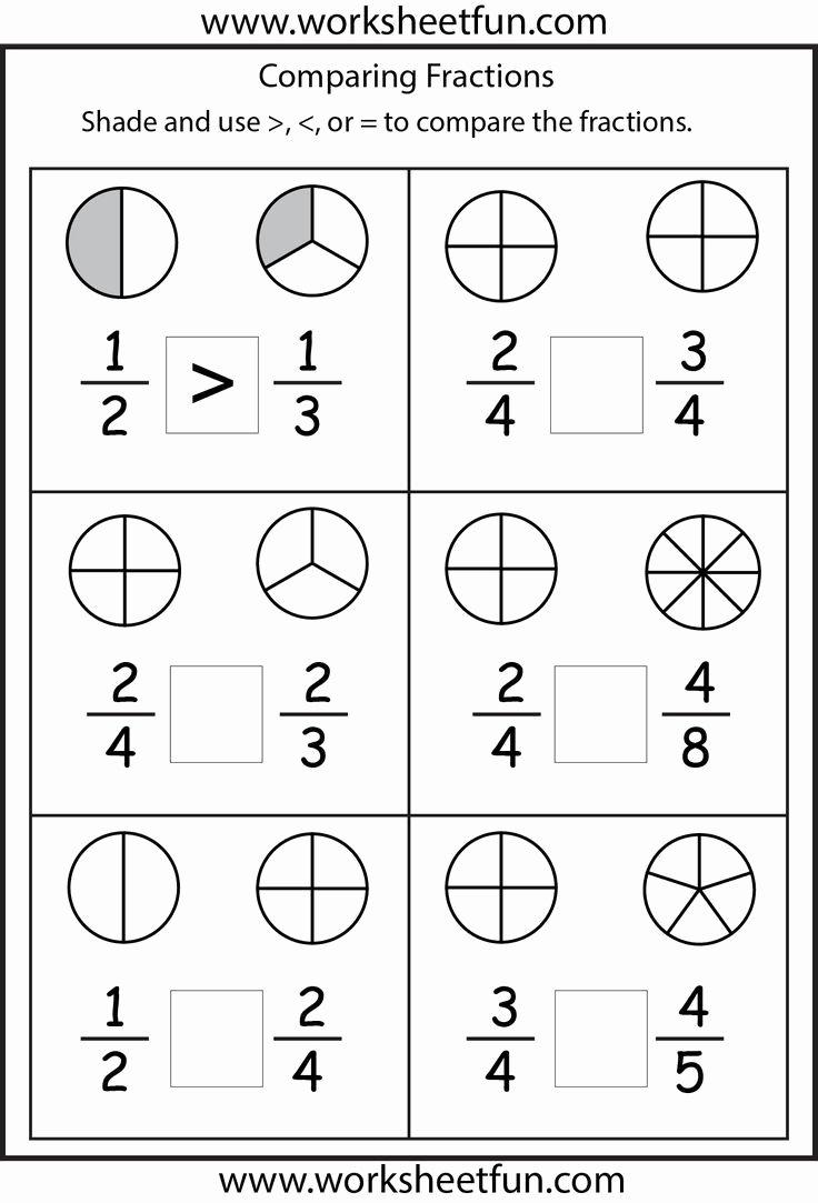 Fraction Worksheets for Preschoolers Free Worksheet Fraction Worksheets for Grade to Printable