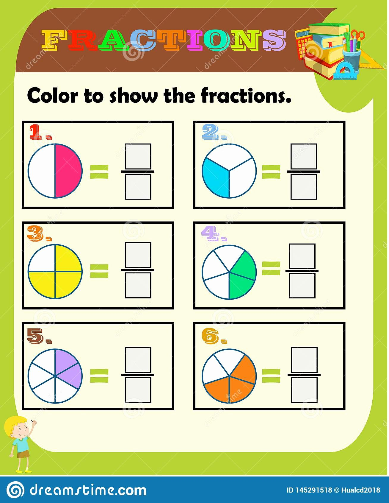 Fraction Worksheets for Preschoolers Ideas Circle the Correct Fraction Mathematics Math Worksheet for