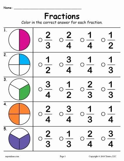 Fraction Worksheets for Preschoolers Kids Free Printable Fractions Worksheet Practice and Master