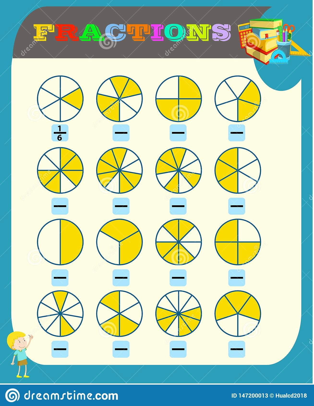 Fraction Worksheets for Preschoolers Lovely Circle the Correct Fraction Mathematics Math Worksheet for