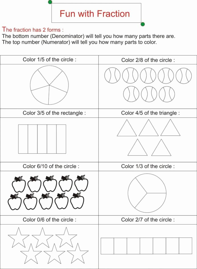 Fraction Worksheets for Preschoolers top Fraction is Fun Worksheets Free Ks2 Math Addition Sheets for