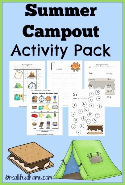 Free Camping Worksheets for Preschoolers top Summer Camp Out Printables and Activities