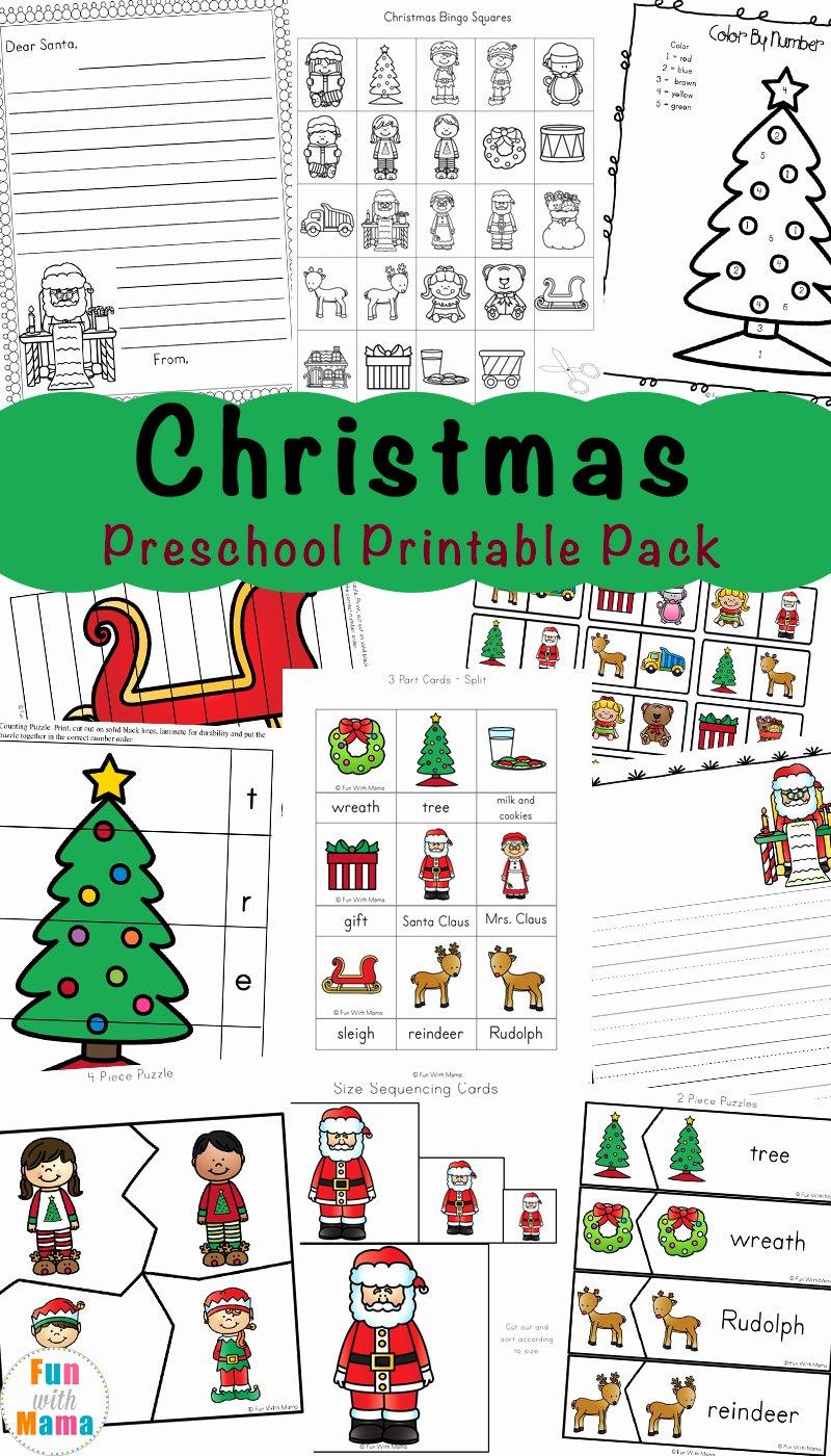 Free Christmas Worksheets for Preschoolers top Free Printable Christmas Worksheets Fun with Mama