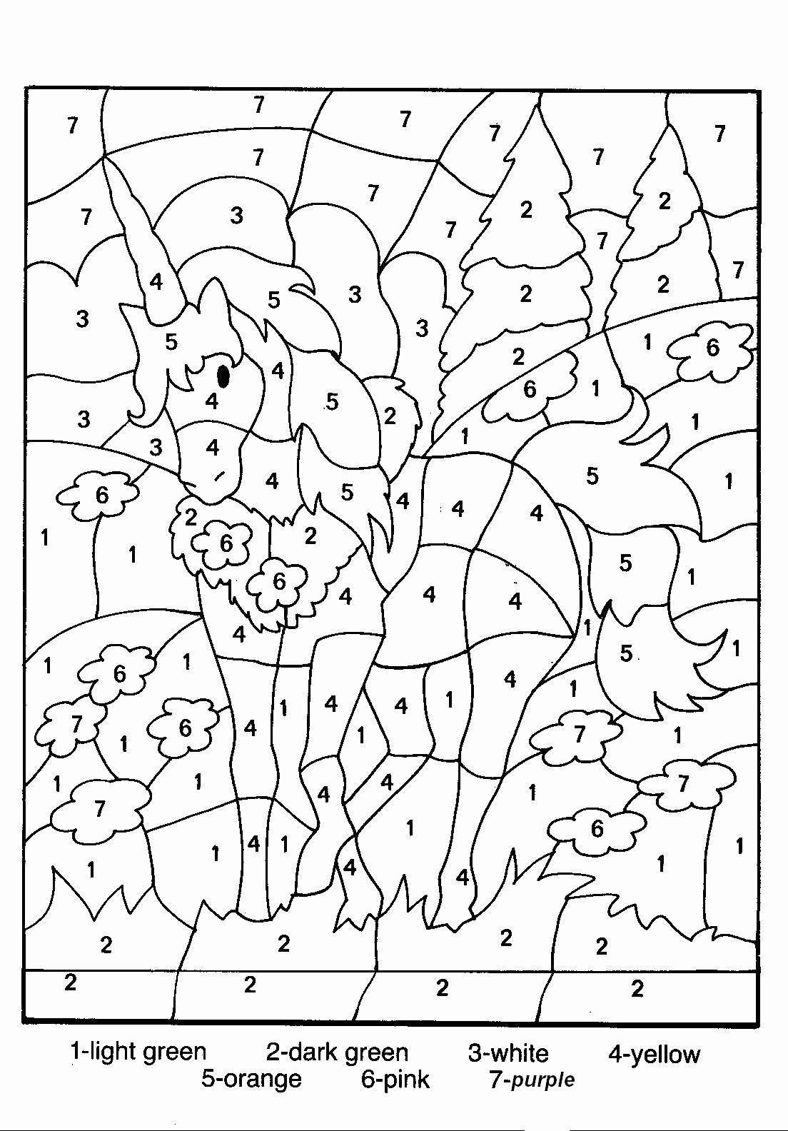 Free Colouring Worksheets for Preschoolers Inspirational Free Printable Color by Number
