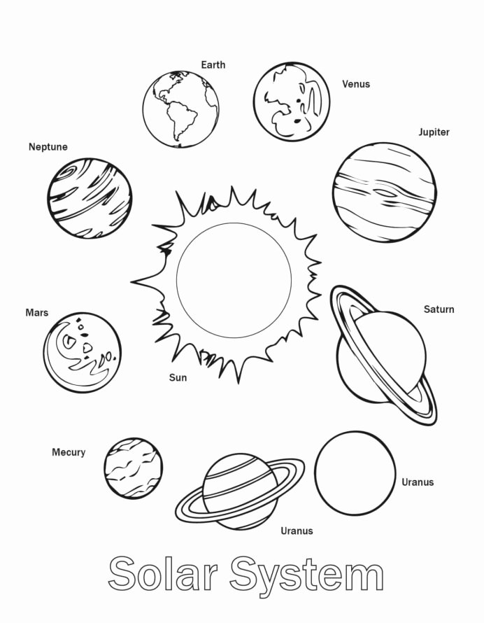 Free Colouring Worksheets for Preschoolers New Free Printable solar System Coloring for Kids Planets