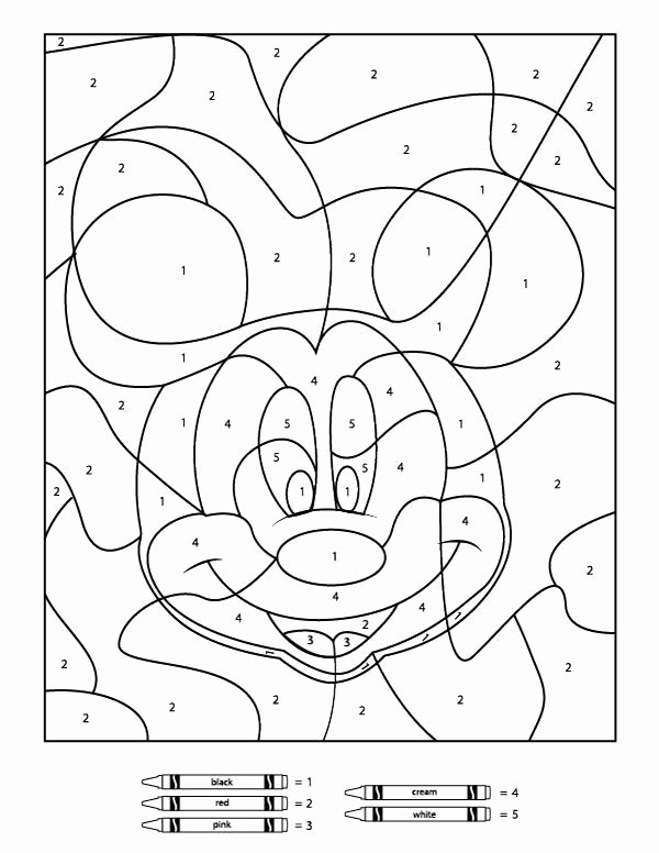 Free Disney Worksheets for Preschoolers Inspirational Free Disney Color by Number Printables