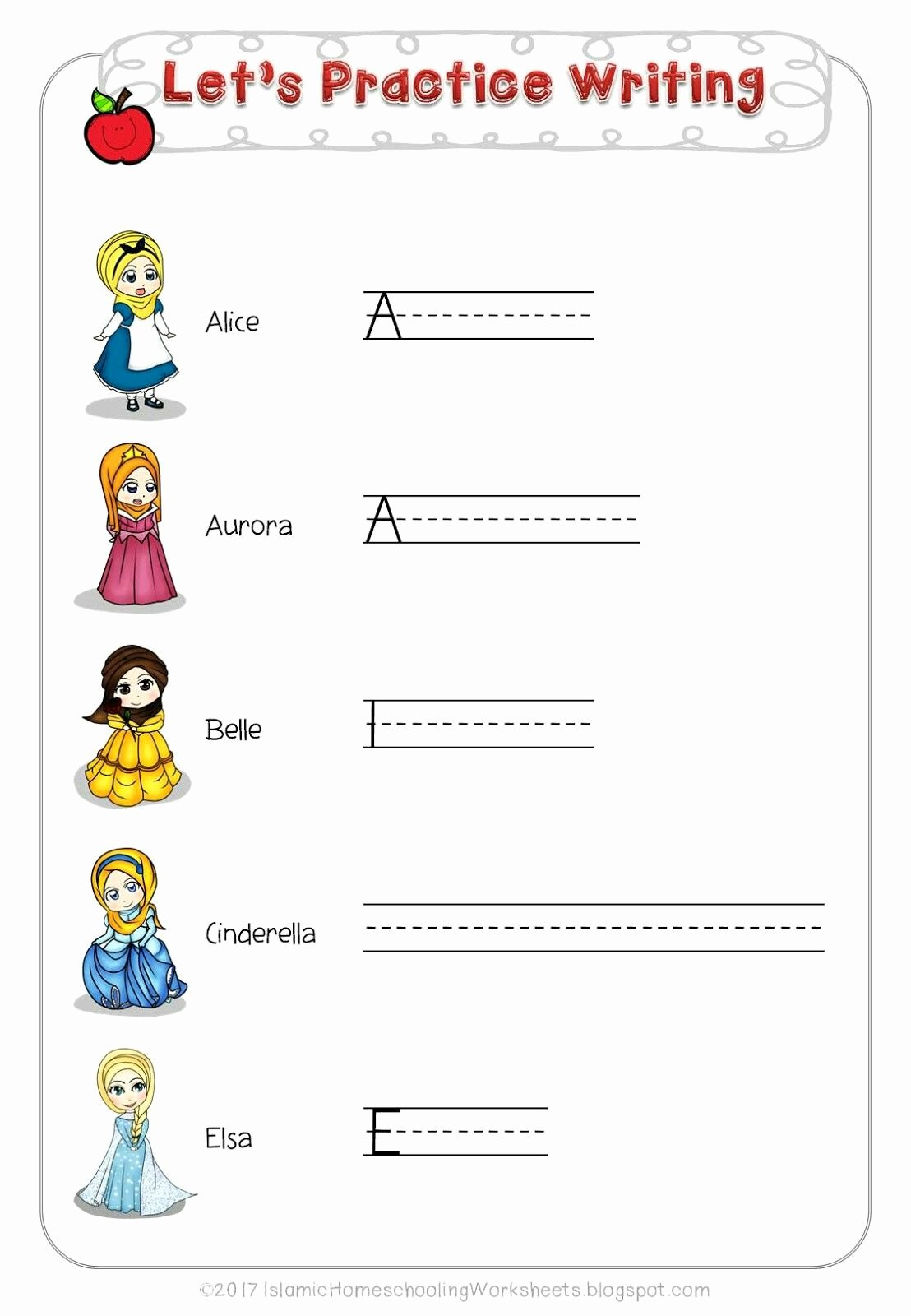 Free Disney Worksheets for Preschoolers Lovely Free Disney Princess Preschool Pack islamic Version