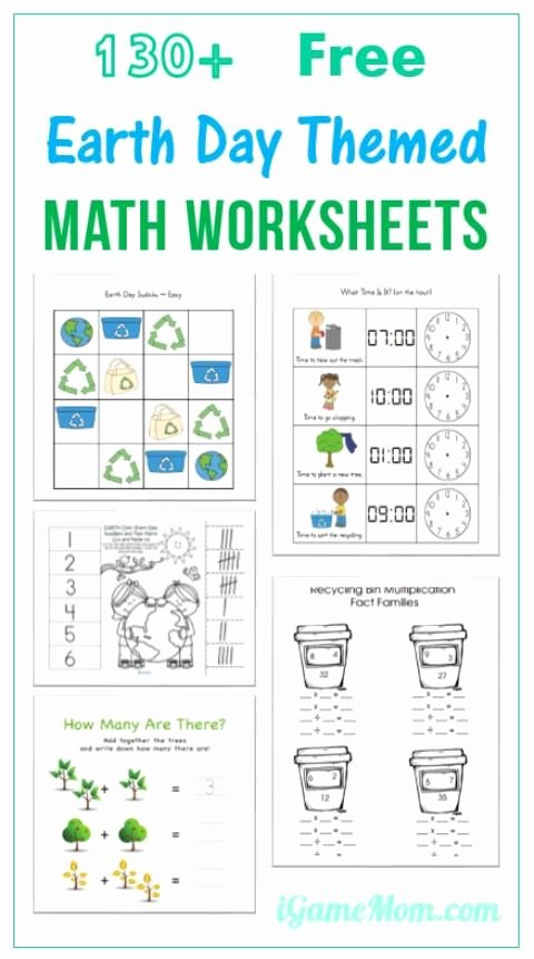 Free Earth Day Worksheets for Preschoolers Ideas 130 Free Earth Day Math Printable Worksheets for Kids