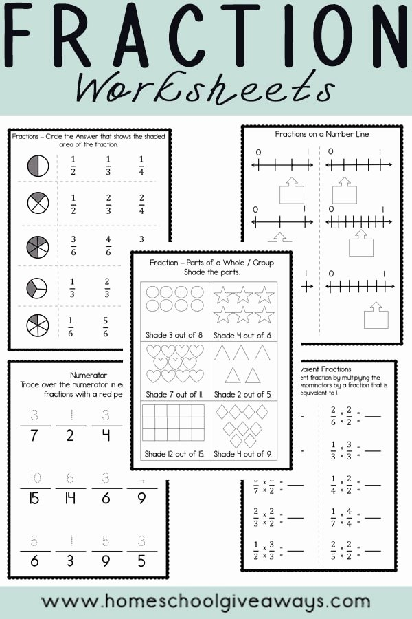 Free Fraction Worksheets for Preschoolers Fresh Free Fraction Printables Homeschool Giveaways