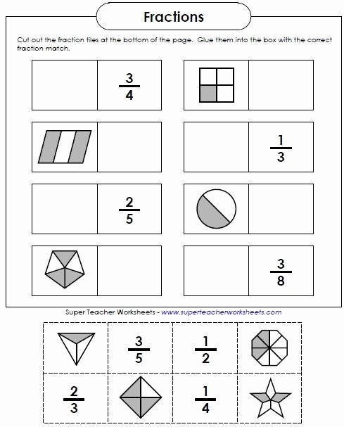 Free Fraction Worksheets for Preschoolers Kids Fraction Worksheets