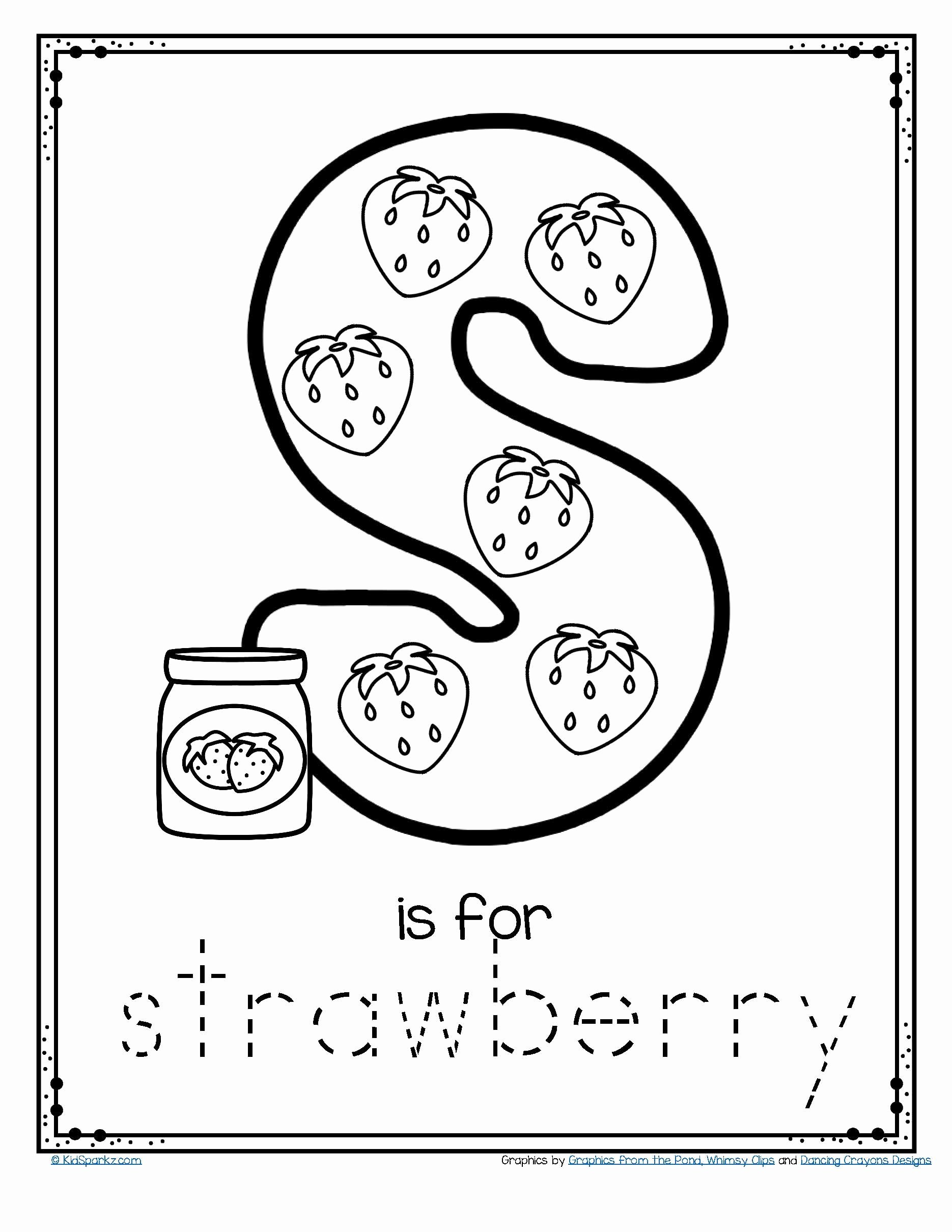 Free Homeschooling Worksheets for Preschoolers Best Of Free is for Strawberry Alphabet Letter Printable Traceable