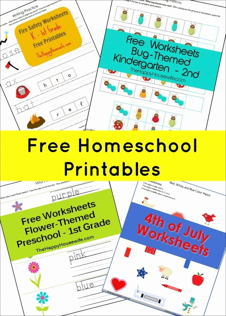 Free Homeschooling Worksheets for Preschoolers Inspirational Free Homeschool Printables the Happy Housewife™ Home