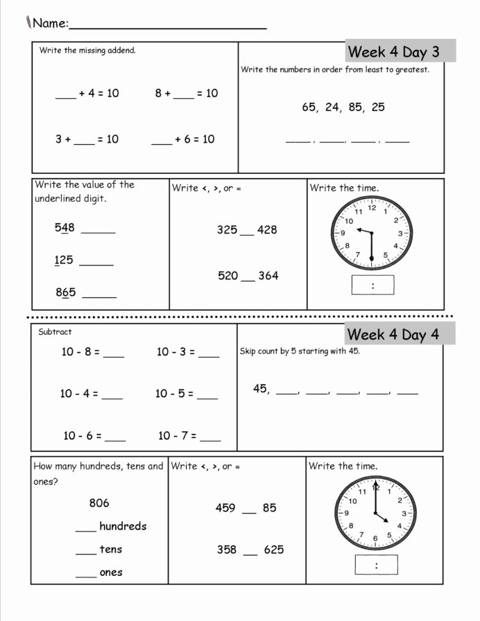 Free Homeschooling Worksheets for Preschoolers Printable Printable Homeschool Worksheets Activity Shelter Free 2nd