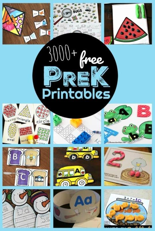 Free Homeschooling Worksheets for Preschoolers top 3000 Free Pre K Worksheets