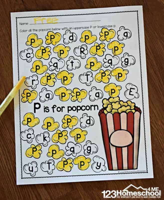 Free Letters Worksheets for Preschoolers Ideas Free A to Z Letter Find Worksheets