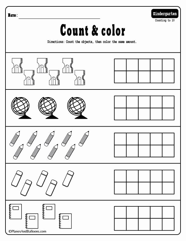 Free Math Worksheets for Preschoolers Kids 15 Kindergarten Math Worksheets Pdf Files to for
