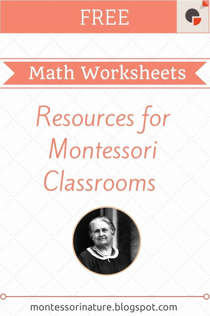 Free Montessori Worksheets for Preschoolers Best Of Free Montessori Math Worksheets