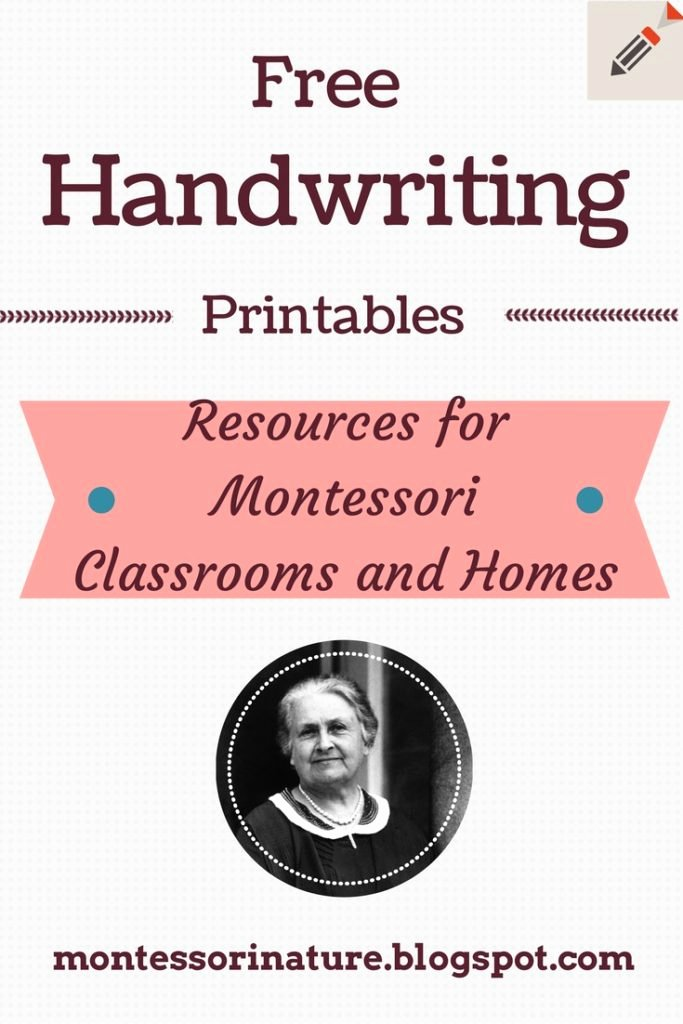 Free Montessori Worksheets for Preschoolers Ideas Free Handwriting Printables