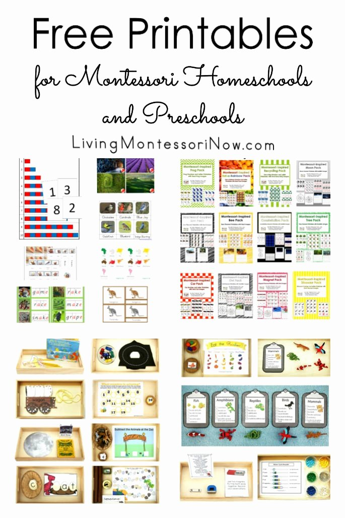 Free Montessori Worksheets for Preschoolers New Free Printables for Montessori Homeschools and Preschools
