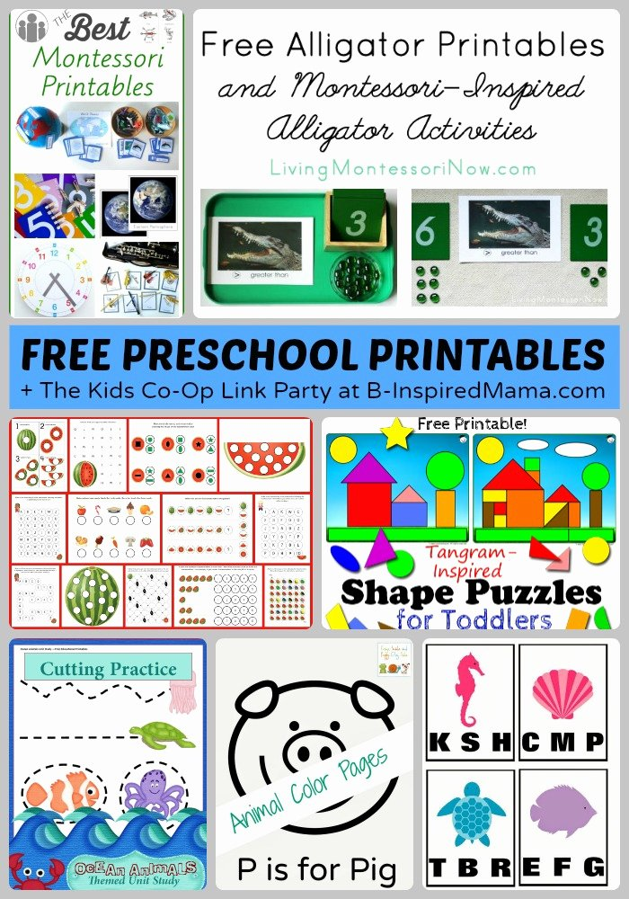 Free Montessori Worksheets for Preschoolers New tons Of Free Preschool Worksheets & Printables