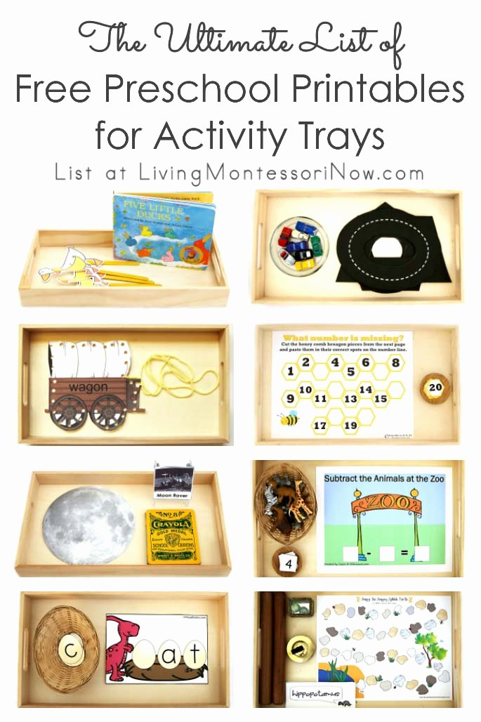 Free Montessori Worksheets for Preschoolers Printable the Ultimate List Of Free Preschool Printables for Activity