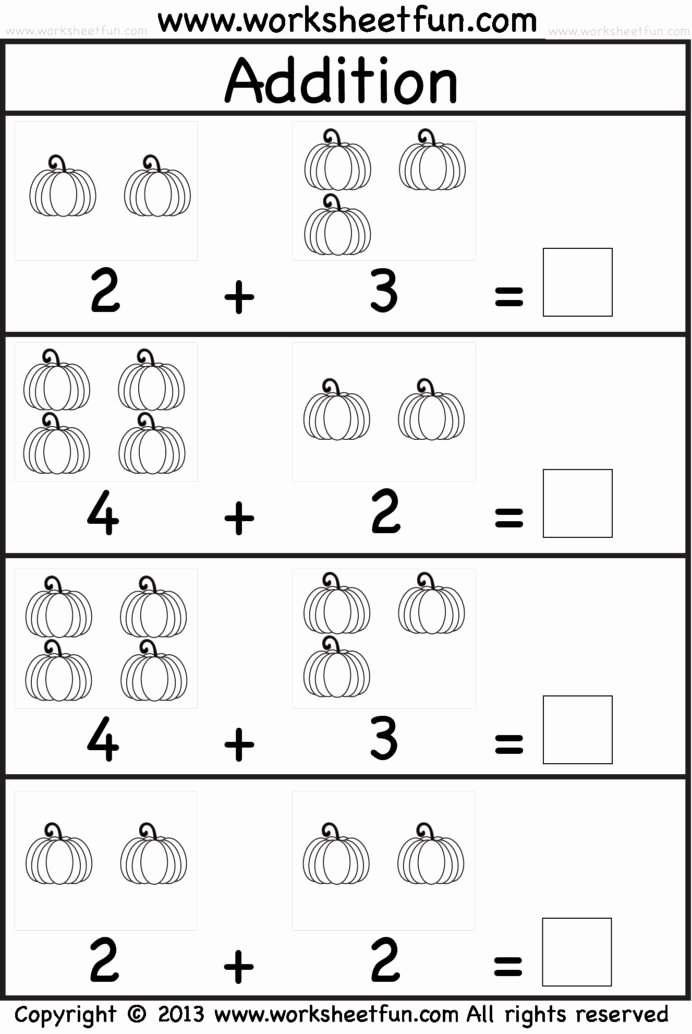 Free Numbers Worksheets for Preschoolers New Kindergarten Math Worksheets for Printable Free Sums with