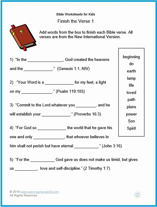 Free Printable Bible Worksheets for Preschoolers Fresh Bible Worksheets for Kids