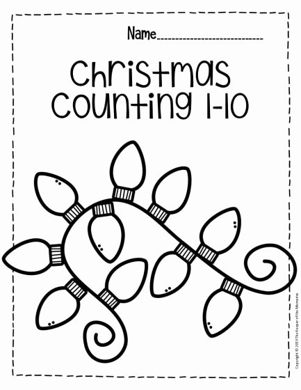 Free Printable Christmas Worksheets for Preschoolers Free Free Printable Numbers Christmas Preschool Worksheets