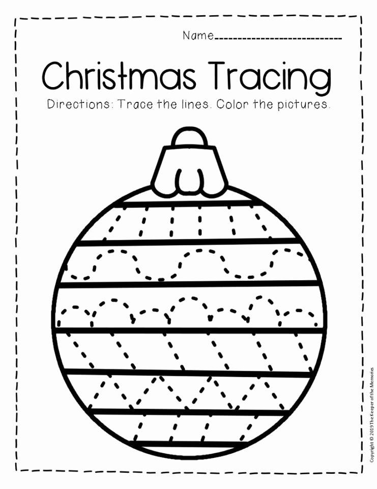 Free Printable Christmas Worksheets for Preschoolers Printable Free Printable Tracing Christmas Preschool Worksheets 1