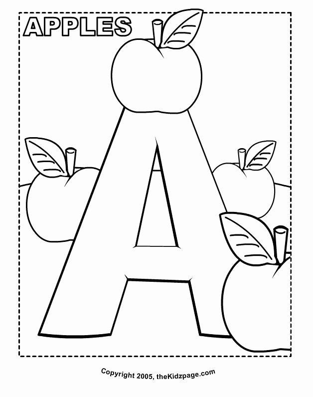 Free Printable Colouring Worksheets for Preschoolers Lovely A is for Apples Free Coloring Pages for Kids Printable