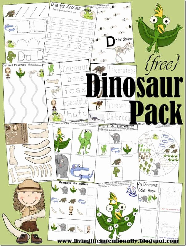 Free Printable Dinosaur Worksheets for Preschoolers Fresh Free Dinosaur Printables