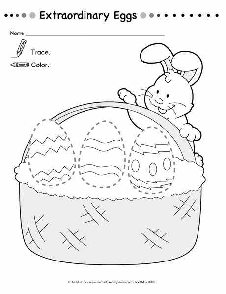Free Printable Easter Worksheets for Preschoolers Inspirational Free Printable Easter Trace Worksheet
