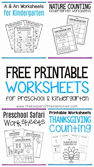 Free Printable Educational Worksheets for Preschoolers Ideas Free Printable Worksheets for Preschool & Kindergarten the