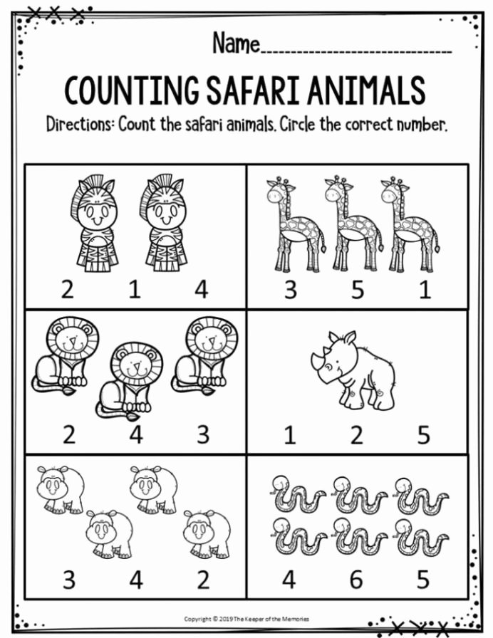 Free Printable Educational Worksheets for Preschoolers New Free Printable Worksheets for Preschool Kindergarten Safari