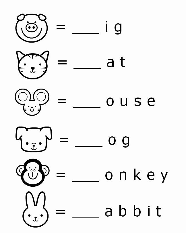Free Printable English Worksheets for Preschoolers Printable Beginning sounds Letter Worksheets for Early Learners