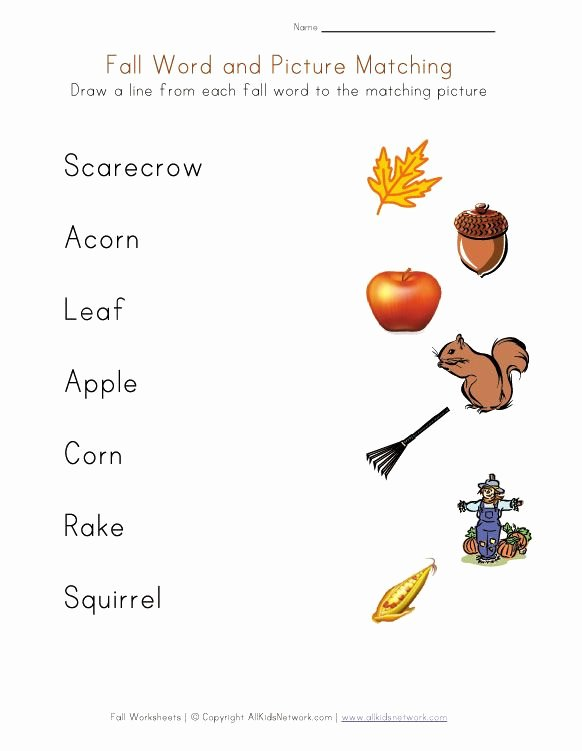 Free Printable Fall Worksheets for Preschoolers Fresh Free Fall Worksheets for Kids Faithful Provisions
