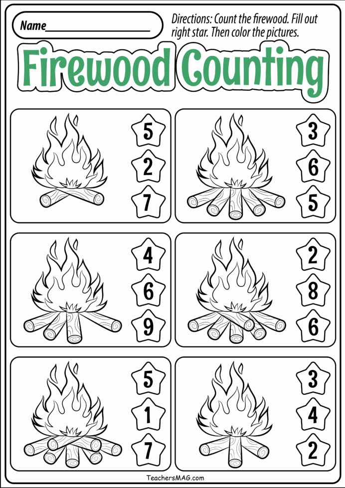 Free Printable Fall Worksheets for Preschoolers New Preschool Fall Math Worksheets Teachersmag Free Printable