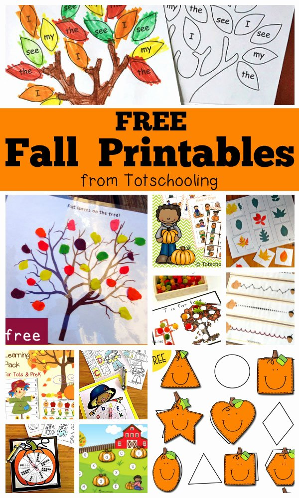 Free Printable Fall Worksheets for Preschoolers Printable Free Fall Printables for Kids