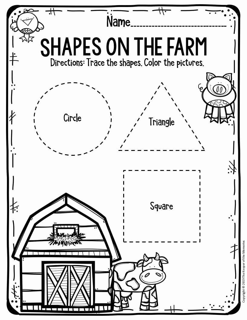 Free Printable Farm Worksheets for Preschoolers Free Free Printable Worksheets for Preschool & Kindergarten Farm