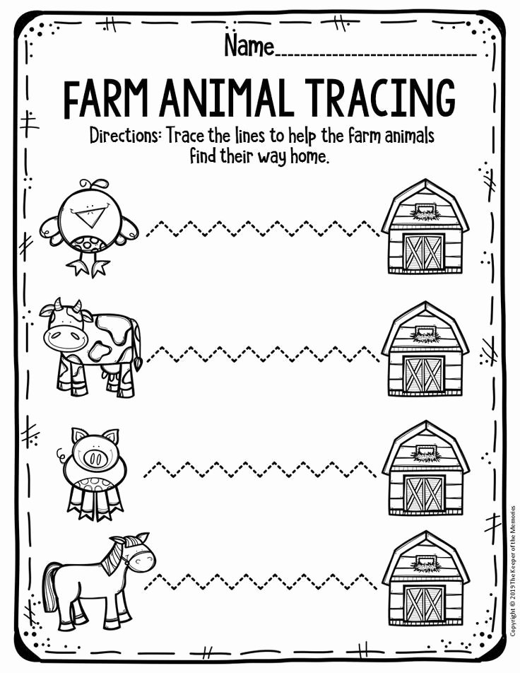 Free Printable Farm Worksheets for Preschoolers Ideas Free Printable Worksheets for Preschool & Kindergarten
