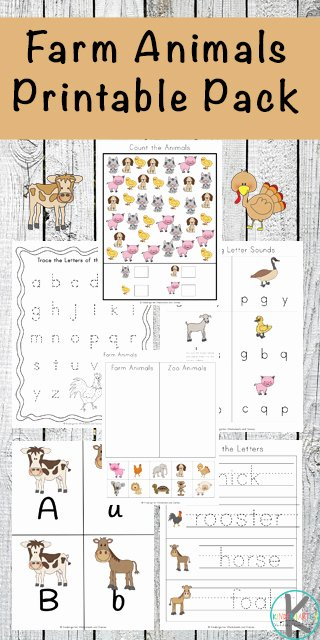Free Printable Farm Worksheets for Preschoolers New Free Farm Animals Worksheets