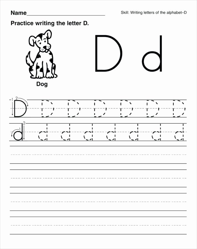 Free Printable Handwriting Worksheets for Preschoolers Inspirational Handwriting Worksheets for Kids Printable Preschool Enlarged