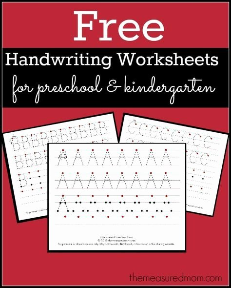 Free Printable Handwriting Worksheets for Preschoolers New Free Printable Handwriting Worksheets for Preschool