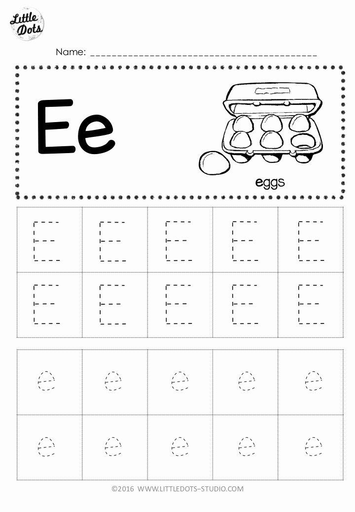 Free Printable Letter E Worksheets for Preschoolers Best Of Free Letter E Tracing Worksheets