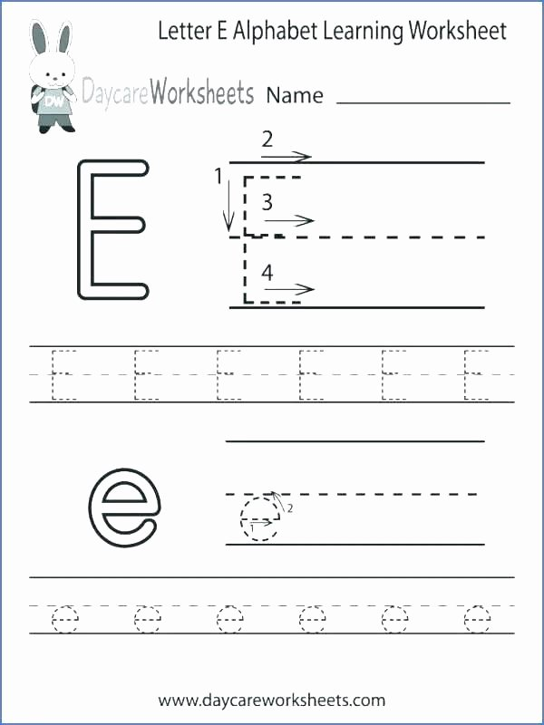 Free Printable Letter E Worksheets for Preschoolers Free Worksheet Free Printable Letter Worksheets Lowercase