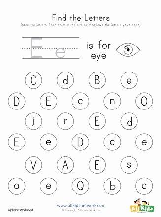 Free Printable Letter E Worksheets for Preschoolers Kids Find the Letter E Worksheet