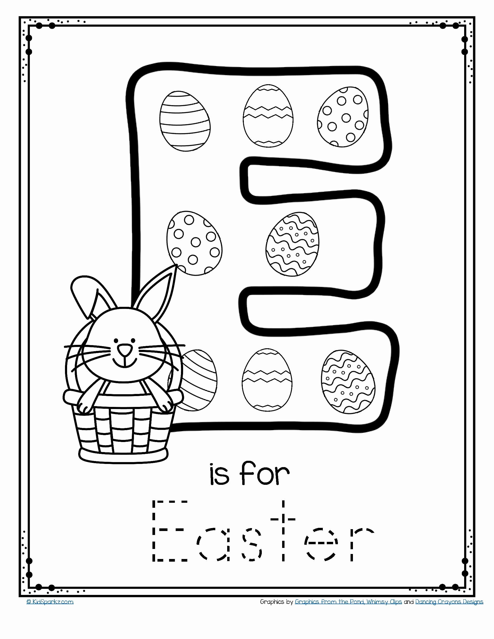 Free Printable Letter E Worksheets for Preschoolers Lovely Letter E is for Easter Trace and Color Printable Free